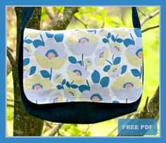 Two Pretty Poppet's Good-To-Go Messenger Bag - Free PDF Sewing Pattern