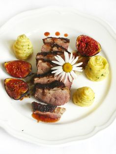 chefs duck breast with chicory and potato dauphinoise duck breast ...