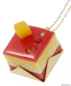 Petit Cassis Cake Necklace