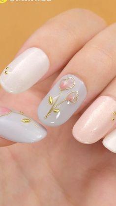 Dope Nail Designs, Nail Art Designs Videos, Nail Art Videos, Acrylic Nail Designs, Elegant Nail Designs, Best Nail Art Designs, White Acrylic Nails, Pink Nail Art, Pink Nails