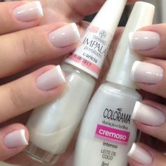 Coco, Beauty Hacks, Nail Polish, Nails, Makeup, Design, White Nail Beds, Nail Colors, Light Nails