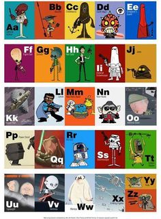 Star Wars Alphabet, If ONLY I had known about this when my kid was still little :D