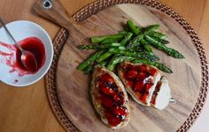 strawberry glazed grilled chicken via @Aimee | Simple Bites