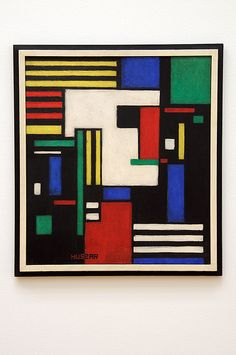 Vilmos Huszár (1884-1960) - Composition with White Head