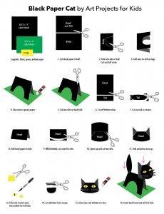 Negro Papel Gato Diagrama Publicar