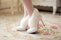 Wholesale Wedding Shoes - Buy 2014 New Arrival European Winter Sweet Wedding Boots Bridal Boots with Rabit Fur White Elegant Water Diamond Shining Jackboots 5 Si, $83.77 | DHgate.com