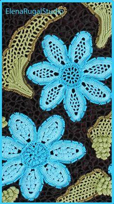 Crochet Flowers, Crochet Lace, Irish Lace, Irish Crochet, Simple Designs, Needlework, Blanket, Videos, Youtube