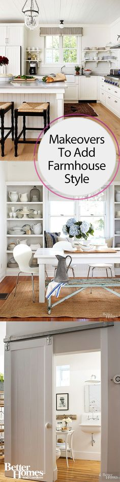 Add farmhouse style to any room in your home without going over budget. These mini makeover ideas include painting a wall white, adding some flea market finds or thrift store steals or changing out some furniture. These mini makeovers will make a big difference to add that rustic chic look.