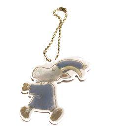 Mauri Kunnas Mr Clutterbuck reflector Kermit, Stripes, Pendant Necklace, Safety, Jewelry, Beige, Security Guard, Bijoux, Jewlery