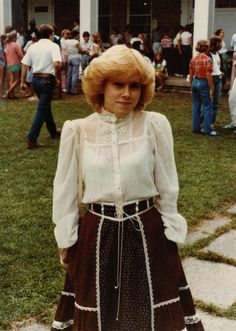 Gunne Sax.  Aka the Prairie Skirt with blouse.  This could be a picture of me in '82.