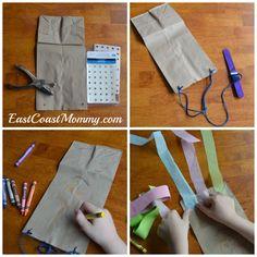 East Coast Mommy: Alphabet Series - Letter K Letter K Crafts, Alphabet Crafts, Toddler Preschool, Preschool Activities, Kites Craft, Kites For Kids, How To Make A Paper Bag, Paper Bag Crafts, Making Ideas