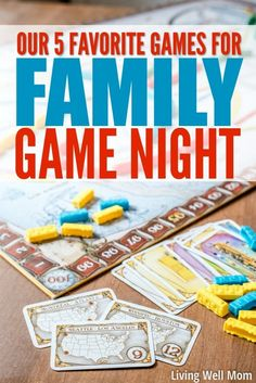 Need inspiration for fun board games on a family game night? Here's 5 favorite games that our family of six (kids ages 5-13) play over and over again!