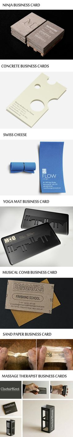 The most clever business cards and designs...