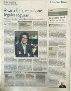 New article of Ecix Managing Partner, Álvaro Écija, about cybersecurity and compliance.