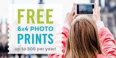 Print up to 500 6x4 Prints a Year FREE right from your smartphone! they're also offering 10 free 4x6 prints INCLUDING free 2nd class post delivery for new customers so you pay absolutely nothing.