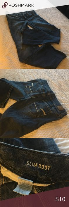 American eagle blue jeans Good condition American eagle jeans size 8 stretch slim boot American Eagle Outfitters Jeans