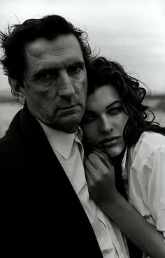 Milla Jovovich and Harry Dean Stanton photographed by Peter Lindbergh for Vogue Paris, Peter Lindbergh, Milla Jovovich, Contemporary Photographers, Famous Photographers, Linda Evangelista, Vogue Paris, Photography Women, Portrait Photography, Fantasy Photography