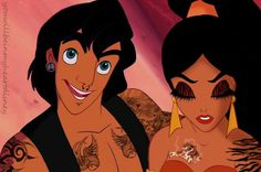 This person uploaded my jasmine and aladdin edit to deviantart
