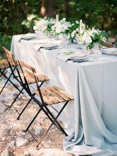 Dusty Blue Wedding Linens | photography by http://www.krystleakin.com/