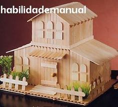 Popsicle Stick House Popsicle Stick Houses Martha Stewart And Craft