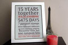 Diy personalized anniversary gift idea ask the couples closest
