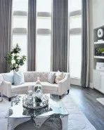 A luxe silver and cream look via We love the elegant glam mixed with touches of the natural world. Share your for a chance to be featured next week! Romantic Living Room, Elegant Living Room, Elegant Home Decor, Affordable Home Decor, Elegant Homes, My Living Room, Living Room Interior, Modern Living, Small Living