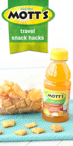 Let's take a road trip! Don't worry, with these Travel Snack Hacks it's easier to travel with your kids than you think. As you know, hungry kiddos can be the demise of fun family memories. That's where this recipe for Homemade Cheese Crackers, Mott's® Applesauce, and Mott's 100% Apple Mango Juice comes in handy! So before your summer vacation, head to Dollar General to stock up on the delicious snacks you'll need.