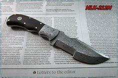 Damascus Custom Made Tracking Knife,Rose Wood With Damascus Bolsters.HLK-212T #Homelandknives