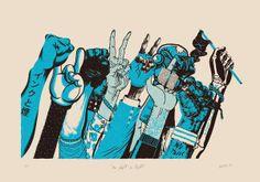 No Fight No Rights Art Print by Valistika | Society6