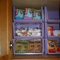 200 DIY Dollar Store Organization Ideas Spring cleaning just got a whole lot cheaper! Organize for less with these creative dollar store organization and storage ideas Food Storage Rooms, Storage Room Organization, Dorm Storage, Spice Storage, Diy Kitchen Storage, Pantry Storage, Storage Bins, Storage Ideas, Organization Ideas