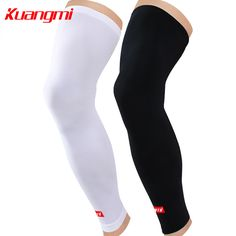 a743c556c9 Kuangmi 2pcs Leg Compression Sleeves Leg Long Sleeves Knee Support Ciclismo  Knee Protector Cycling Knee Brace
