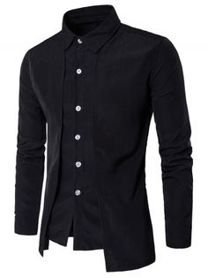 GET $50 NOW | Join RoseGal: Get YOUR $50 NOW!http://www.rosegal.com/mens-shirt/faux-twinset-panel-design-long-1134176.html?seid=9107790rg1134176