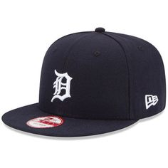 Detroit Tigers New Era Baycik 9FIFTY Adjustable Hat - Navy