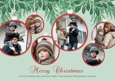 Mixbook Garland Collage Holiday Photo Cards