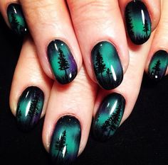 """If you're unfamiliar with nail trends and you hear the words """"coffin nails,"""" what comes to mind? It's not nails with coffins drawn on them. It's long nails with a square tip, and the look has. Beach Nail Art, Beach Nail Designs, Beach Nails, Best Nail Art Designs, Beach Art, Winter Nails, Summer Nails, Diy Nails, Cute Nails"""