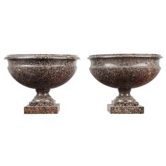Pair of Swedish Porphyry Urns   From a unique collection of antique and modern vases and vessels at https://www.1stdibs.com/furniture/decorative-objects/vases-vessels/