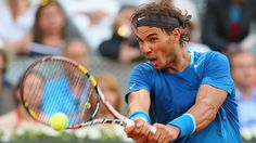 Rafa WINS MADRID!! Rafael Nadal plays a backhand against Kei Nishikori in their final match at the Madrid Open on Sunday in Madrid, Spain. (Clive Brunskill/Get...