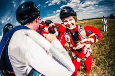 This past week saw 100 Polish skydivers take to the sky and set a new record in the form of a national FS. Skydiving, The 100, Captain Hat, Polish, Image, Vitreous Enamel, Nail Polish, Nail