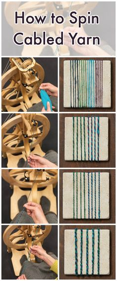 The cabled yarn construction combines at least four singles that have been plied with several layers of twist. The most common cabled yarn, a 2-by-2-ply, is created when two 2-ply yarns are twisted together opposite the plying direction. Here's how it's done!