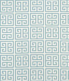 """Premier Prints' Towers Village in Blue/Natural Fabric \\ $8 per yard \\ 54"""" Wide \\ Cotton Home Dec"""