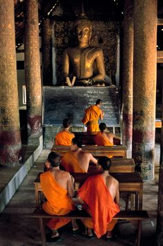 Steve McCurry / Monks in school, Luang Prabang, Laos Luang Prabang, Buddha Buddhism, Buddhist Monk, Buddhist Temple, Steve Mccurry, Laos Travel, Asia Travel, Phnom Penh, Places To Travel