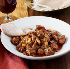 (African: Ethiopien Cuisine) Spiced Lamb Stew- This tender lamb stew is flavored with smoked paprika and berbere spices for a truly authentic Ethopian-comfort-food experience.