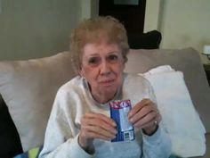 82 year old tryin pop rocks...This is adorable xD haha