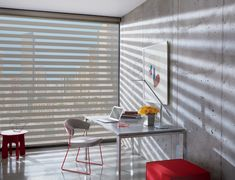 Hunter Douglas Designer Banded Shades Window treatments Blinds Light filtering Room darkening Privacy View through Sheer Shades, Shades Blinds, Shades Window, Industrial Office Design, Modern Office Design, Hunter Douglas, Window Coverings, Window Treatments, Office Blinds