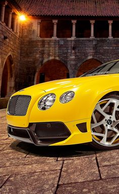 Bentley Continental shining brightly in yellow | Pinned By Zeus Factor