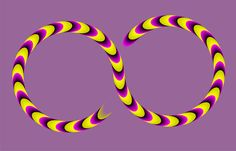 Red Snake - a motion illusion by Akiyoshi Kitaoka. The snake appears to move.
