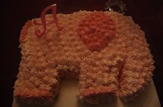 Easy elephant cake cut out of a rectangle and frosted...less than twenty minutes
