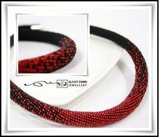 """""""Dancing moon"""" bead crochet rope necklace"""
