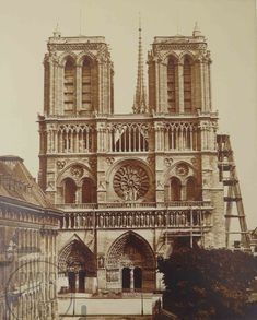 Gagosian gallery in Paris is hosting an exhibition in honor of the renovation and restoration of the Cathédrale Notre-Dame de Paris, that suffered extensive damage in a massive fire on April Ile Saint Louis, Saint Michel, Saint Chapelle, Paris Images, Getty Museum, Grand Palais, 12th Century, Vintage Wall Art, Heritage Image