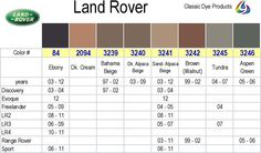 land rover interior color chart - Yahoo Image Search Results